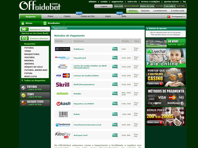 Onde posso fazer apostas online